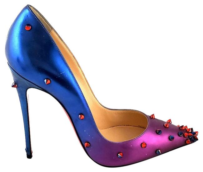 Item - Blue and Pink Ombre Scarabe Degraspike Pumps Size EU 38.5 (Approx. US 8.5) Regular (M, B)