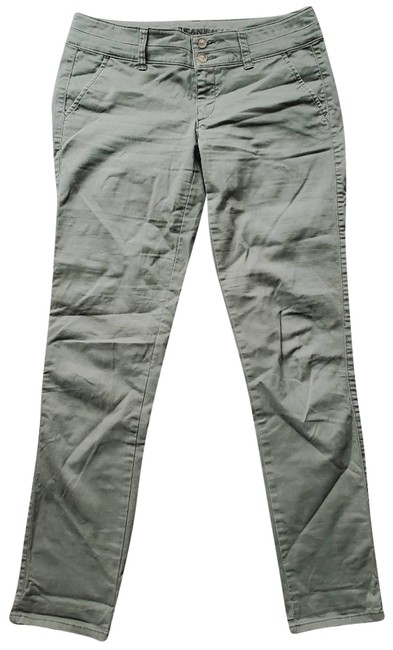 Item - Green Stretch Double Closure Pants Size 2 (XS, 26)