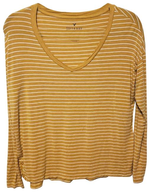 Item - Yellow XS Aeo Soft and Sexy Long Sleeve Vneck Tee Shirt Size 2 (XS)