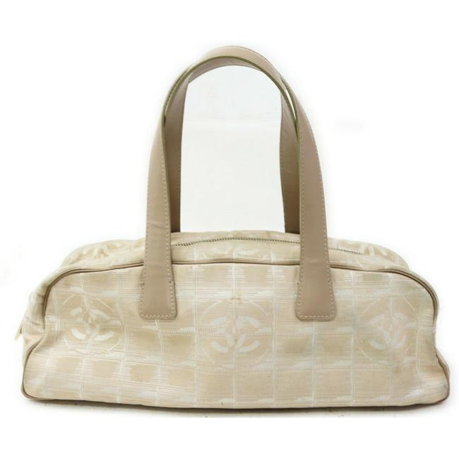 Item - Travel Line Hand Beige Nylon #16233c68 Cream Shoulder Bag