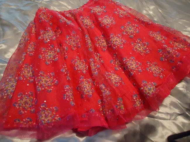 other Lined Hologram Sequins Skirt hot pink Image 1