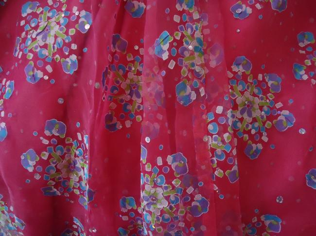 other Lined Hologram Sequins Skirt hot pink Image 3