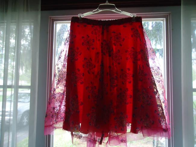other Lined Hologram Sequins Skirt hot pink Image 5