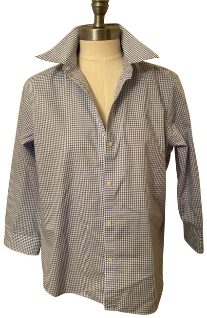 Item - Multicolor Gingham Button-down Top Size 12 (L)