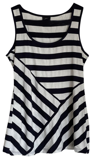 Bobeau Navy and White Striped Tank Top/Cami Size 6 (S) Bobeau Navy and White Striped Tank Top/Cami Size 6 (S) Image 1