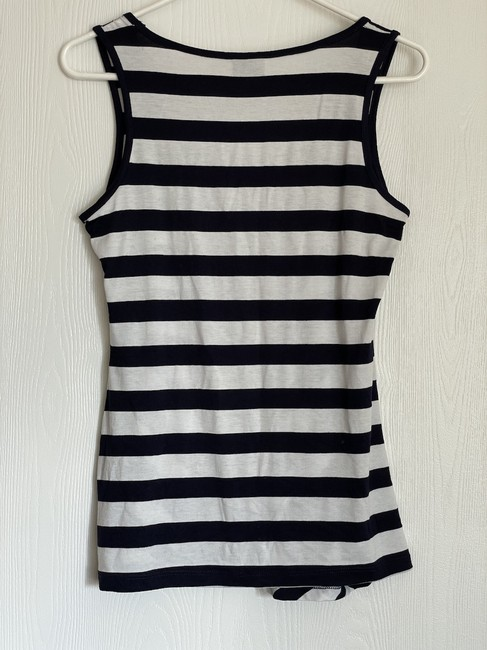 Bobeau Navy and White Striped Tank Top/Cami Size 6 (S) Bobeau Navy and White Striped Tank Top/Cami Size 6 (S) Image 2