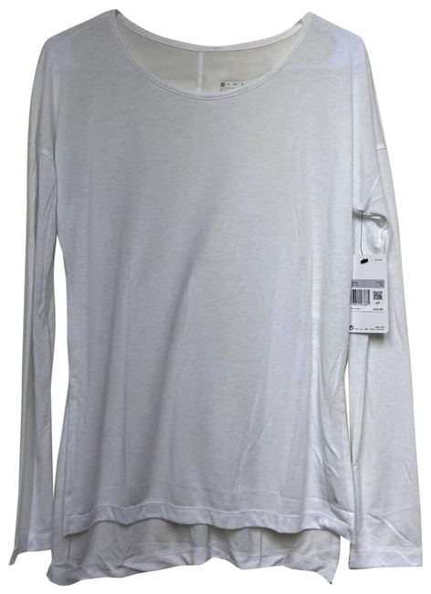 Item - White XS Yoga Tee Split Seam Activewear Top Size 2 (XS)