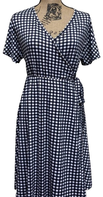 Item - Black Gingham Nightingale Wrap Small Short Casual Dress Size 4 (S)