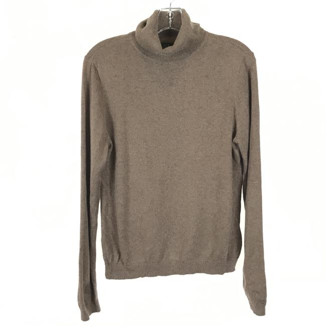 Item - Cashmere Blend Turtleneck Brown Sweater
