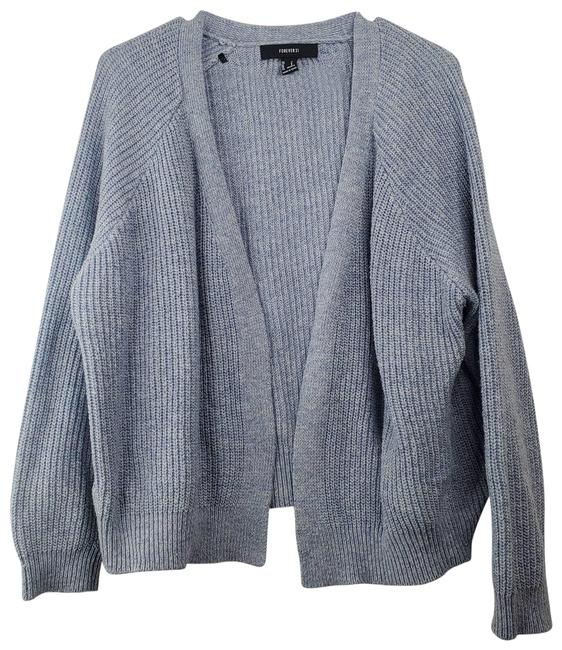 Item - Blue Boxy Knit Cardigan Size 6 (S)