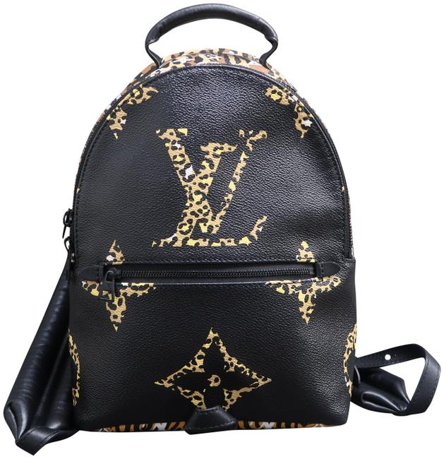 Item - Palm Springs Pm Limited Edition Jungle Multicolore Black Monogram Canvas Backpack