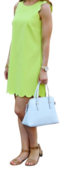 Item - Green Neon Citrine Scalloped Shift Mid-length Short Casual Dress Size 2 (XS)