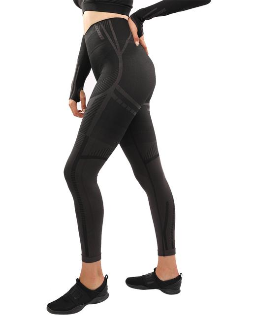 Item - Black & Brown Decata Seamless Activewear Bottoms Size 6 (S, 28)