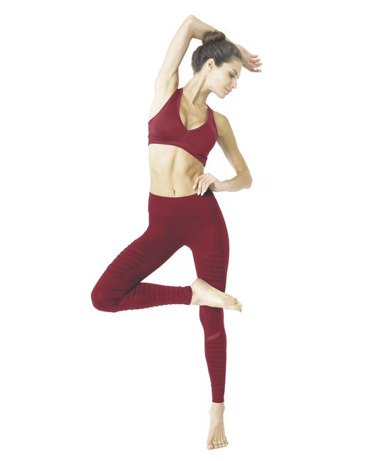 Item - Red Athletique Low-waisted Ribbed with Hidden Pocket & Mesh Panel Activewear Bottoms Size 4 (S, 27)
