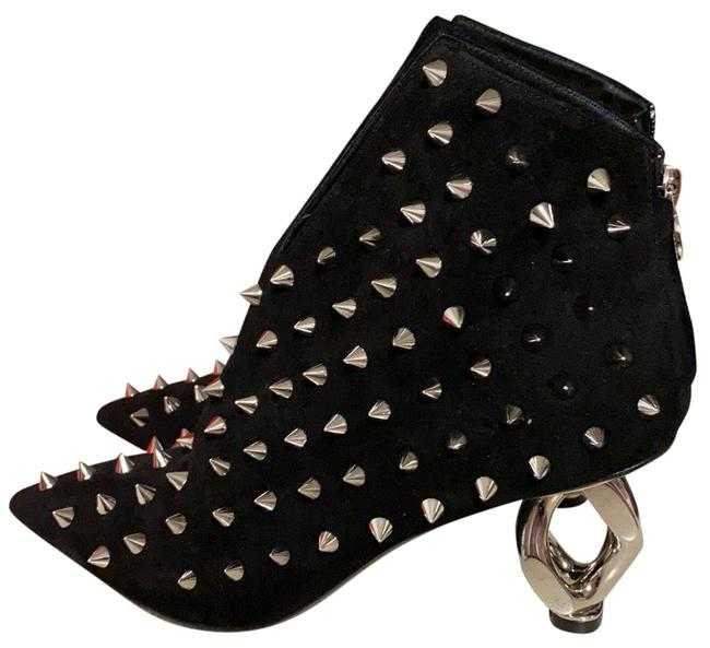 Item - Black and Silver Studded Boots/Booties Size EU 37 (Approx. US 7) Regular (M, B)