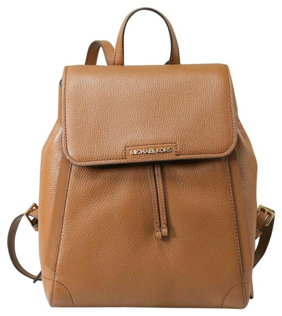 Item - Drawstring Ginger Medium Bookbag Luggage Brown Pebbled Leather Backpack