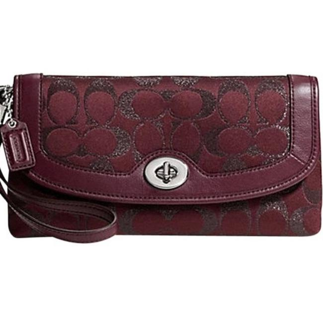 Item - Campbell Signature Large Wristlet Red Clutch