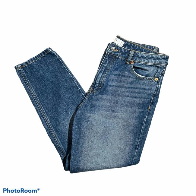 Item - Blue Dark Rinse Hi Relaxed Fit Jeans Size 12 (L, 32, 33)