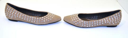 Joie Ballerina Suede Studded Crystal Tan Flats Image 2