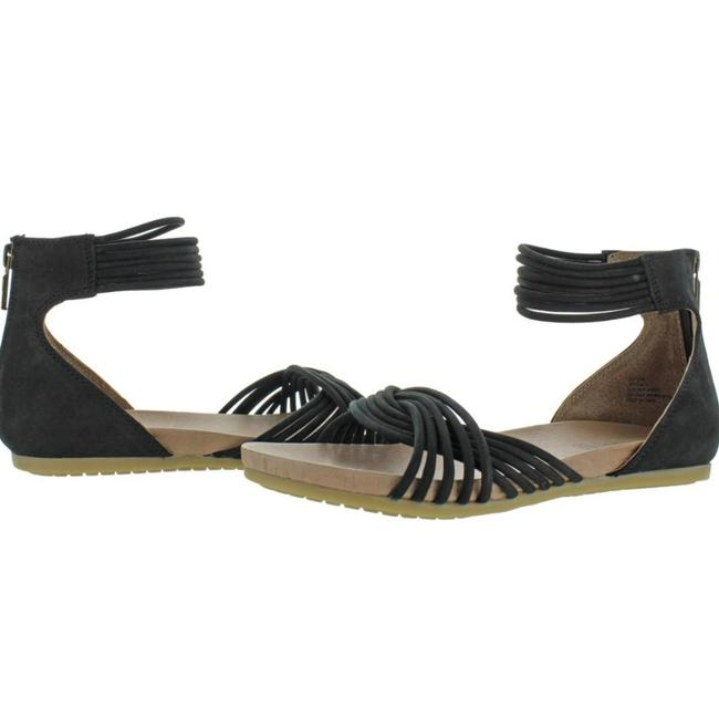 Item - Black Suede Me Too By Serena 8 Open Toe Strappy Sandals Size US 5.5 Regular (M, B)