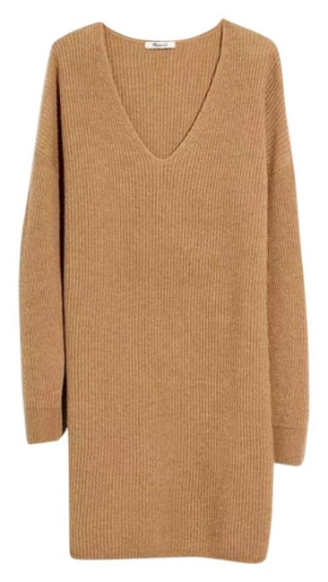 Item - Brown Tan Relaxed Sweater Short Casual Dress Size 4 (S)