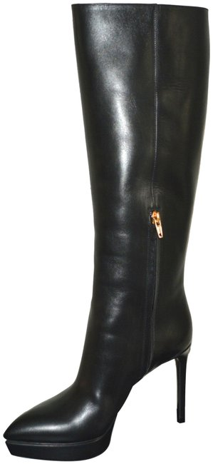 Item - Black Ysl Leather Knee High Boots/Booties Size US 9 Regular (M, B)