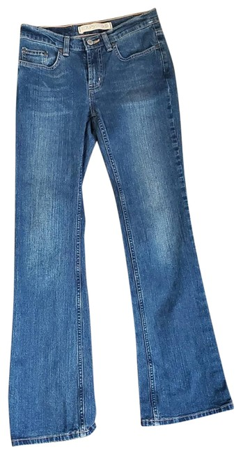 Express Blue Like New Condition Boot Cut Jeans Size 27 (4, S) Express Blue Like New Condition Boot Cut Jeans Size 27 (4, S) Image 1