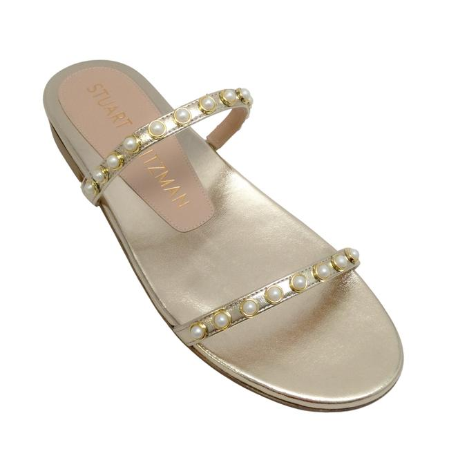 Item - Gold Flat with Pearls Sandals Size EU 36.5 (Approx. US 6.5) Regular (M, B)