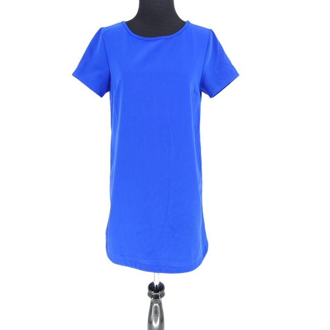 Item - Blue Shift Zip Mini Sleeve Small Ad00010 Short Night Out Dress Size 6 (S)