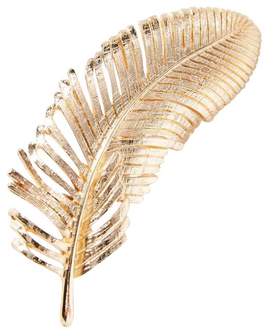Item - Gold New Feather 14k Plated Pin Hair Accessory