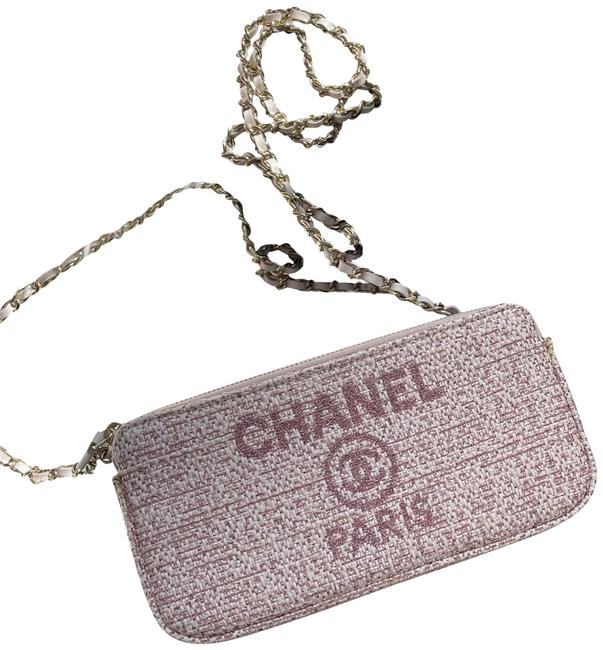 Item - Wallet on Chain 2018 Duvelle Double Pink Canvas Cross Body Bag