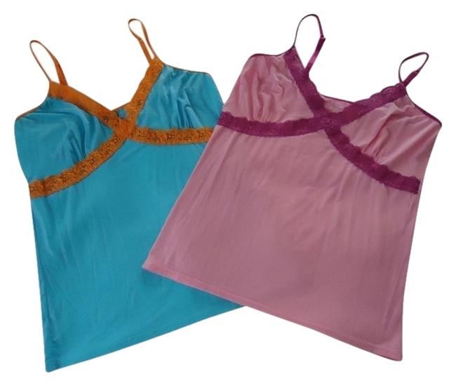 Preload https://img-static.tradesy.com/item/2907610/bright-pink-bright-blue-lace-trimmed-for-summer-fun-tank-topcami-size-8-m-0-0-650-650.jpg