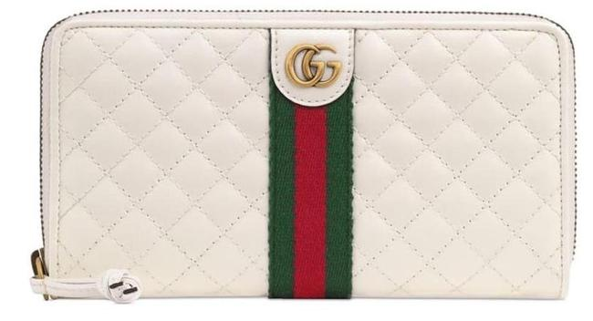 Item - Marmont Box New Quilted Card Case Continental Wallet White Leather Clutch