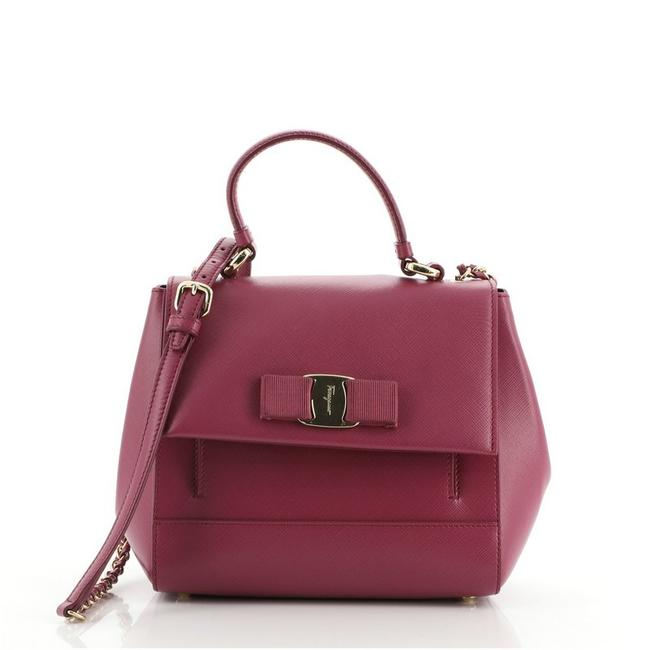 Item - Carrie Vara Saffiano Small Purple Leather Shoulder Bag