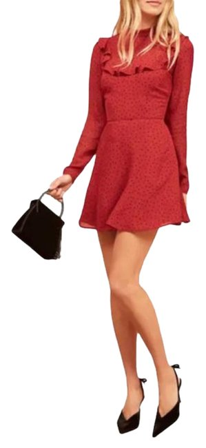 Item - Red Black Flamenco Short Casual Dress Size 8 (M)