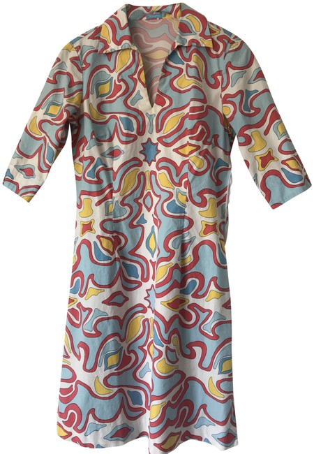 Item - Multicolor Summer Collection Mid-length Short Casual Dress Size 2 (XS)