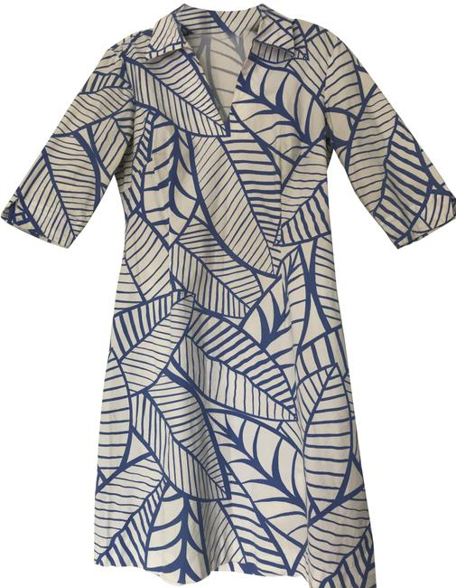 Item - Blue & White Summer Collection Mid-length Short Casual Dress Size 4 (S)