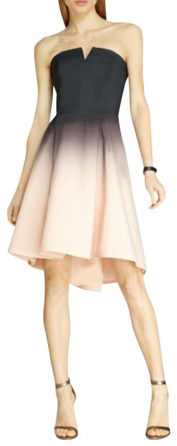 Item - Black and Pink High Low Short Cocktail Dress Size 0 (XS)