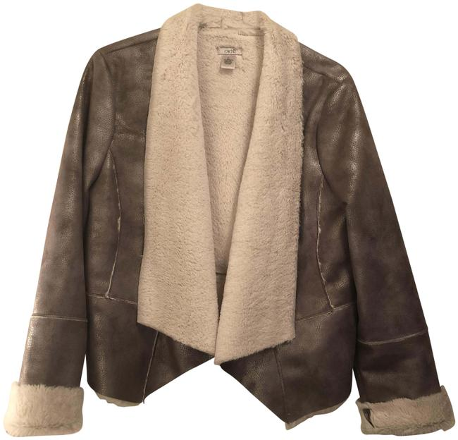 Item - Taupe Nwot Shearling Jacket Rn# 74578 Coat Size 12 (L)