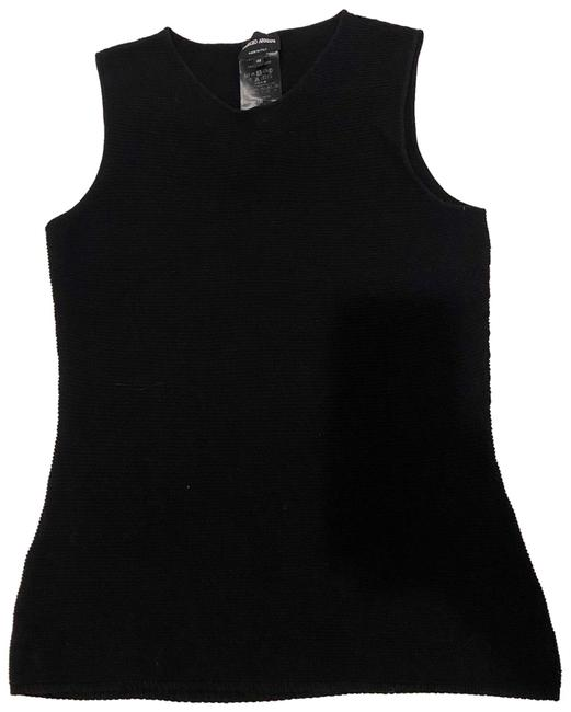 Item - Black Knitted Sleeveless Tank Top/Cami Size 10 (M)