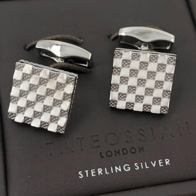 Item - Silver Sterling Modern Abstract Square Cufflinks/Studs