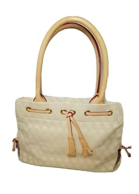 Item - Mini Tassle Tote Tan Brown Fabric Baguette