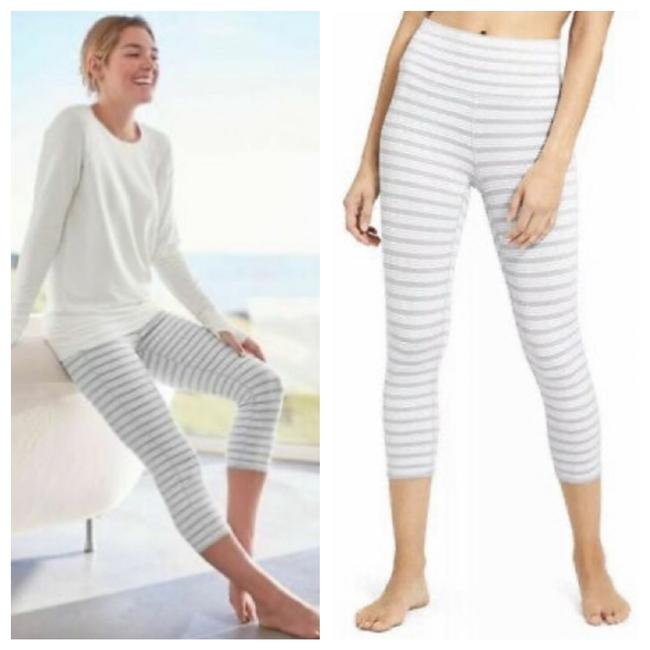 Item - Gray Striped Activewear Bottoms Size 4 (S)