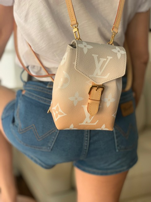 Louis Vuitton Backpack Tiny By The Pool Pink Canvas Cross Body Bag Louis Vuitton Backpack Tiny By The Pool Pink Canvas Cross Body Bag Image 9
