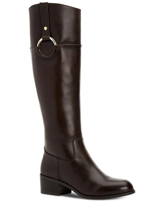 Item - Brown Womens Briaah Leather Closed Toe Knee High Riding Boots/Booties Size US 8 Regular (M, B)