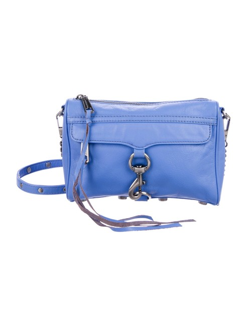 Item - Light Blue Mini Mac Periwinkle Leather Cross Body Bag
