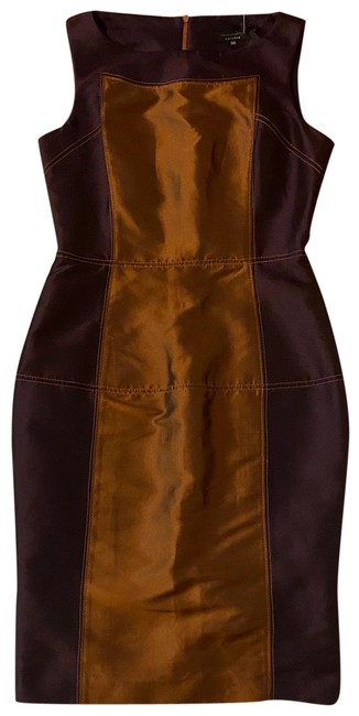 Item - Copper Bronze Purple Stunning Bodycon Short Night Out Dress Size 8 (M)