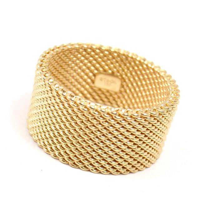 Tiffany & Co. Yellow Gold 18kt 10 Mm Somerset Mesh Wide Ring Women's Wedding Band Tiffany & Co. Yellow Gold 18kt 10 Mm Somerset Mesh Wide Ring Women's Wedding Band Image 2