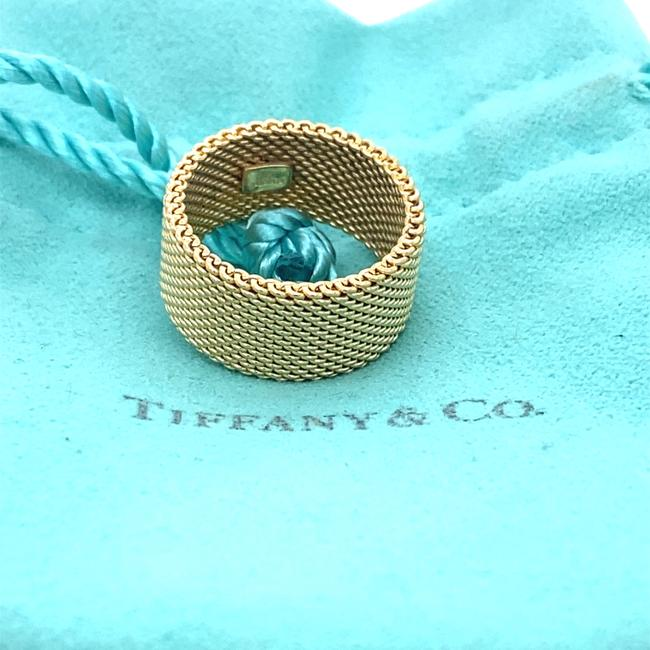 Tiffany & Co. Yellow Gold 18kt 10 Mm Somerset Mesh Wide Ring Women's Wedding Band Tiffany & Co. Yellow Gold 18kt 10 Mm Somerset Mesh Wide Ring Women's Wedding Band Image 11