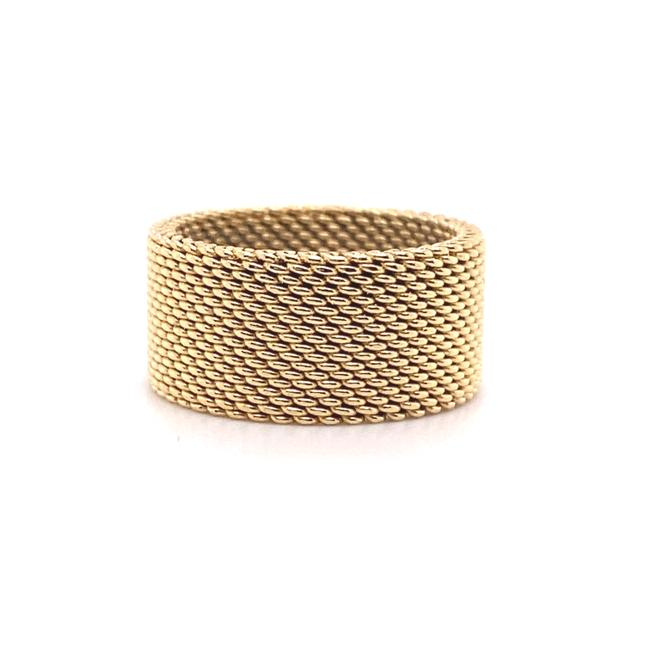 Tiffany & Co. Yellow Gold 18kt 10 Mm Somerset Mesh Wide Ring Women's Wedding Band Tiffany & Co. Yellow Gold 18kt 10 Mm Somerset Mesh Wide Ring Women's Wedding Band Image 3